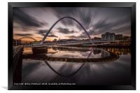 Millennium Bridge Refelcted, Framed Print