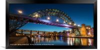 Tyne Bridge at Dusk, Framed Print