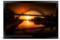 Tyne Bridge Artwork, Framed Print