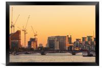 London at sunrise , Framed Print