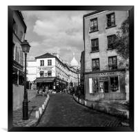 MontmarteParis France, Framed Print