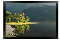 BUTTERMERE  LAKE DISTRICT CUMBRIA  ENGLAND , Framed Print