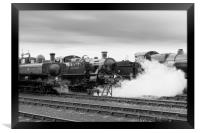 '5101' class 2-6-2T 'large prairie' locomotive  , Framed Print