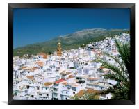 THE WHITE VILLAGE OF COMPETA ANDALUCIA SPAIN , Framed Print