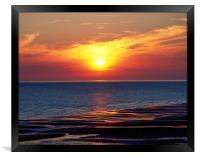 Cumbria Coast Sunset ,England , Framed Print