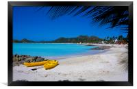 Antigua , Caribbean , Framed Print