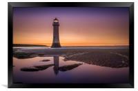 Twilight Reflection, New Brighton Lighthouse, Framed Print