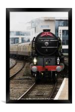 60161 Tornado arrives in Cardiff, UK., Framed Print
