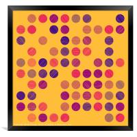 Colourful Scribble Circles Abstract Art - Colour 3, Framed Print