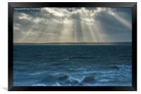 Crepuscular rays on the Solent, Framed Print