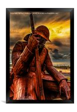 Seaham Tommy - Tired of War, Framed Print