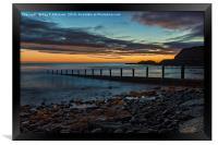 Dawn At Seaham Beach, Framed Print