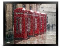 London Telephone Boxes, Framed Print