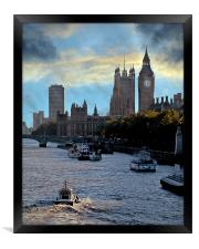 Westminster and the Thames, Framed Print