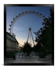 London Eye from the Southbank, Framed Print