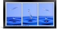 Vibrant Blue Water, Framed Print