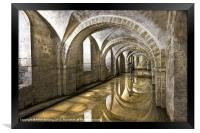 Winchester Cathedral Crypt, Framed Print