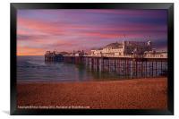 Brighton Pier Sunrise, Framed Print