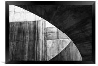 Stone Circle Meets Square, Framed Print