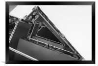 Triangle Space Ship, Framed Print