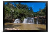 Si Dat Waterfall, Framed Print