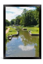 Canal Locks, Framed Print