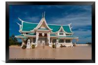 Wat Phar Pu korn-Library, Framed Print