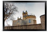Behind Castle Walls, Framed Print