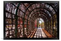 Tunnel Of Roses, Framed Print