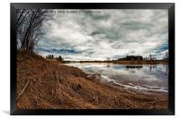 Springtime Clouds Over The River, Framed Print