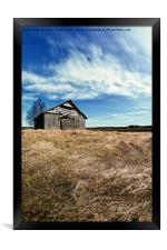 Springtime Clouds Over The Fields, Framed Print
