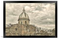 Rome Downtown Buildings, Framed Print