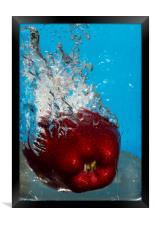 Apple Bath, Framed Print