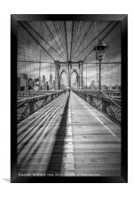 NEW YORK CITY Brooklyn Bridge, Framed Print