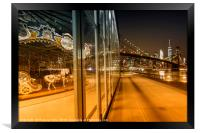 BROOKLYN Jane's Carousel & Manhattan Skyline , Framed Print