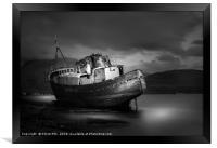 Boat wreck, Framed Print