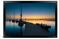 Mylor Bridge Dawn , Framed Print