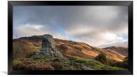 Bruces Stone, Glen Trool, Scotland, Framed Print