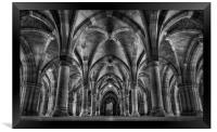 Glasgow University Cloisters, Framed Print