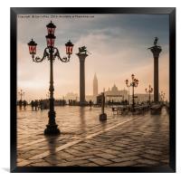 Early Morning Light in Venice, Framed Print