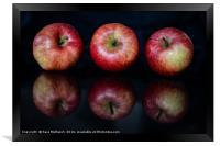a trio of apples, Framed Print