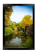 Moat reflections, Framed Print