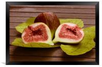 Sweet fresh fig , Framed Print