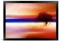 Summer wind , Framed Print