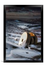 Stanage Millstones, Framed Print