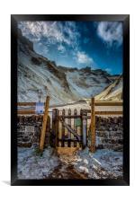 Winnats Pass, Framed Print