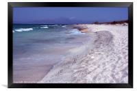 Miles of Sand on Chrissi Island, Framed Print