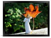 Angel of Autumn, Framed Print