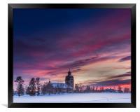 Swedish sunset, Framed Print