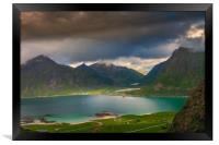 Hiking on the Lofoten, Framed Print